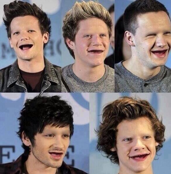 What if one direction didn't have teeth or eyebrows