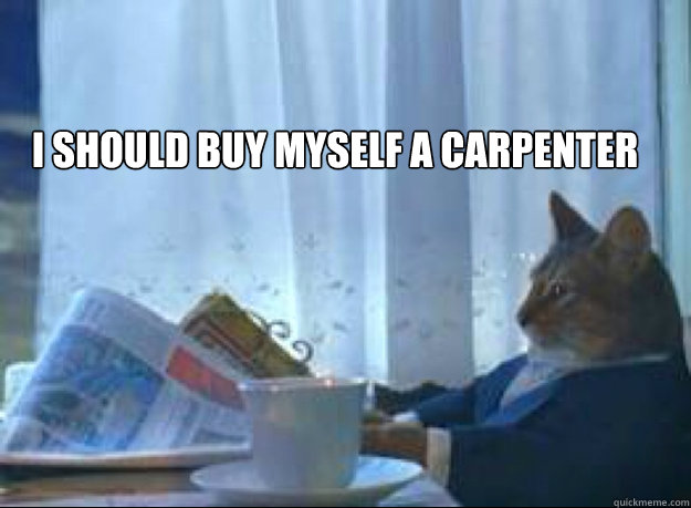 I should buy myself a carpenter  - I should buy myself a carpenter   I should buy a boat cat