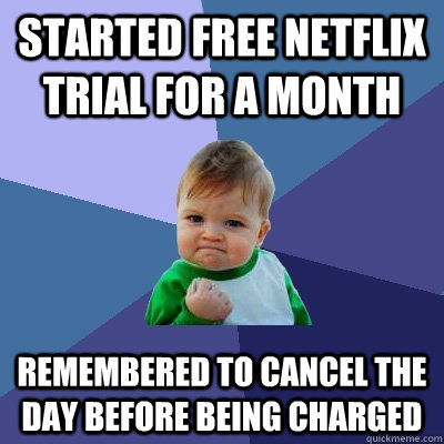 how to cancel your netflix trial