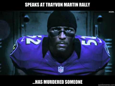 Speaks At Trayvon Martin Rally ...Has Murdered Someone
