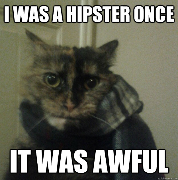 i was a hipster once it was awful - i was a hipster once it was awful  Hipster Cat