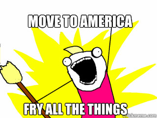move to america fry all the things - move to america fry all the things  All The Things