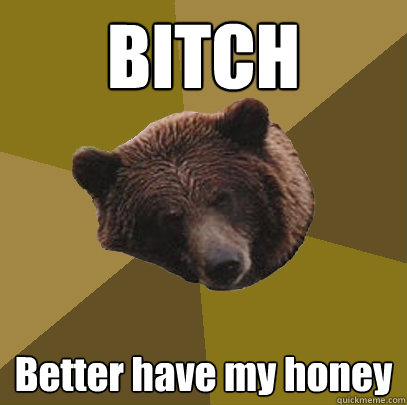 BITCH Better have my honey  Lazy Bachelor Bear