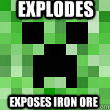 Explodes Exposes iron ore
