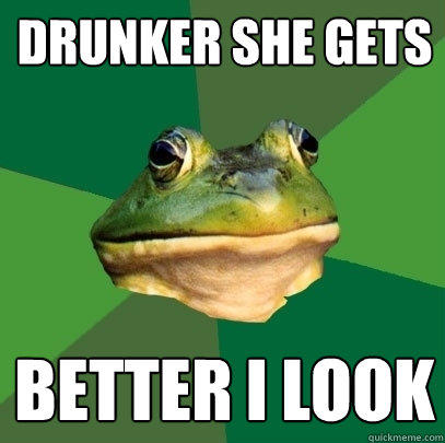Drunker she gets Better I look - Drunker she gets Better I look  Foul Bachelor Frog