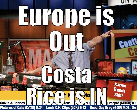 EUROPE IS OUT COSTA RICE IS IN Mad Karma with Jim Cramer
