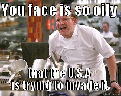 Resultado de imagen de oily skin meme