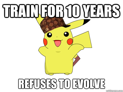 train for 10 years refuses to evolve - train for 10 years refuses to evolve  Misc