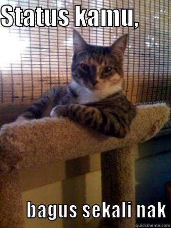 STATUS KAMU,                  BAGUS SEKALI NAK The Most Interesting Cat in the World