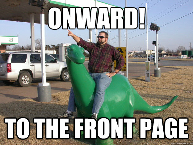 Onward! to the front page - Onward! to the front page  Onward!
