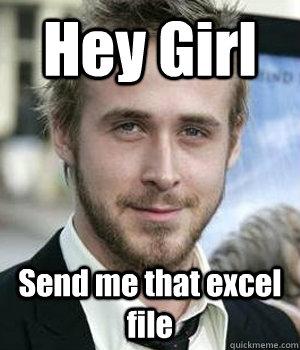 Hey Girl Send me that excel file - Hey Girl Send me that excel file  Misc