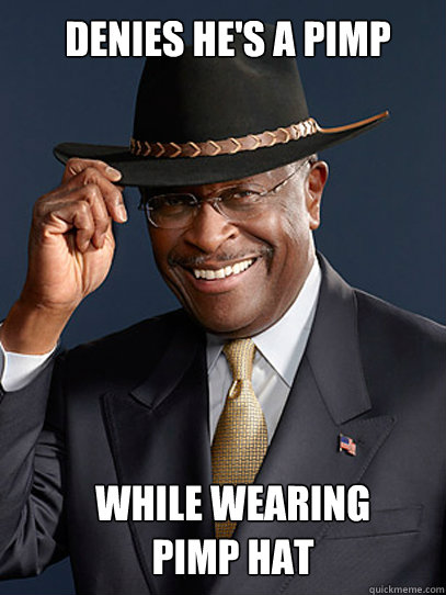 DENIES HE'S A PIMP WHILE WEARING PIMP HAT