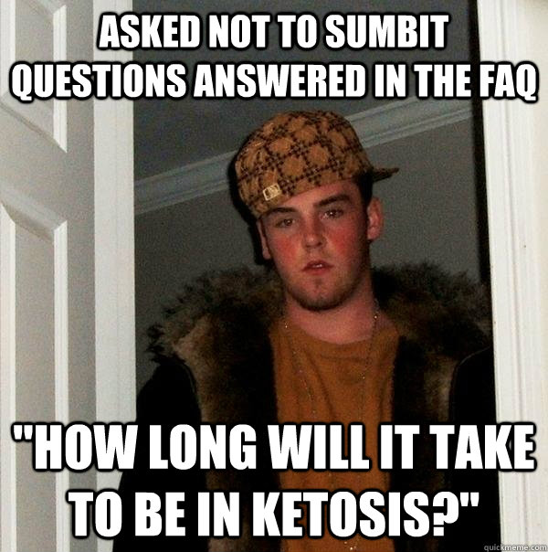 Asked not to sumbit questions answered in the faq