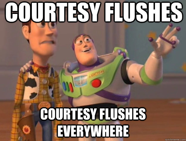 Courtesy Flushes Courtesy Flushes Everywhere - Courtesy Flushes Courtesy Flushes Everywhere  Buzz Lightyear