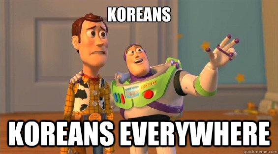 KOREANS KOREANS EVERYWHERE  lambdas everywhere