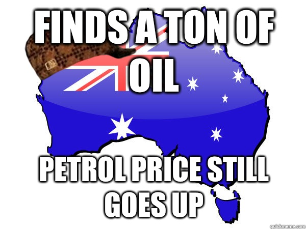 Finds a ton of oil Petrol price still goes up