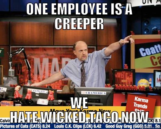 ONE EMPLOYEE IS A CREEPER WE HATE WICKED TACO NOW Mad Karma with Jim Cramer