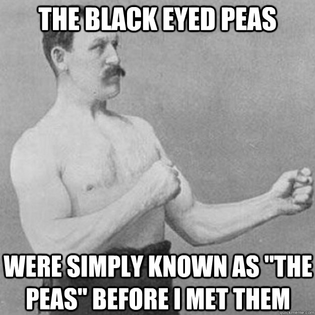 the black eyed peas were simply known as