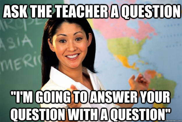 Ask the teacher a question