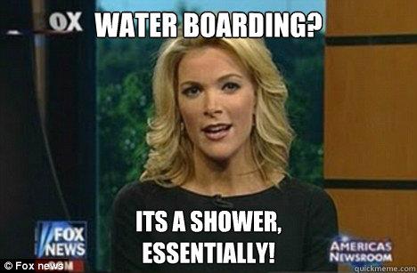 Water Boarding? Its a shower, Essentially!  Megyn Kelly