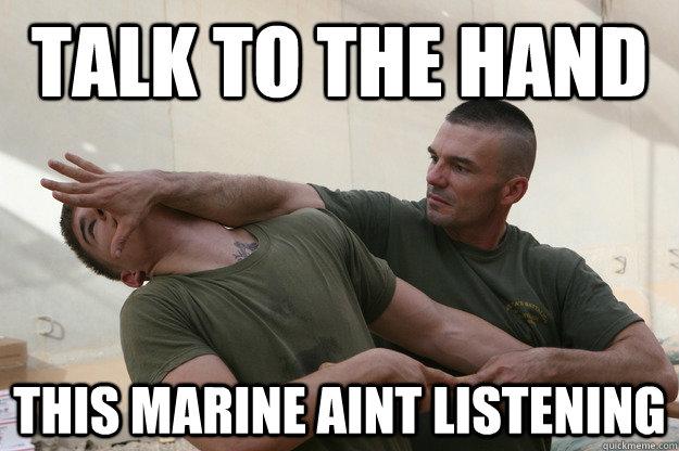 Talk to a marine