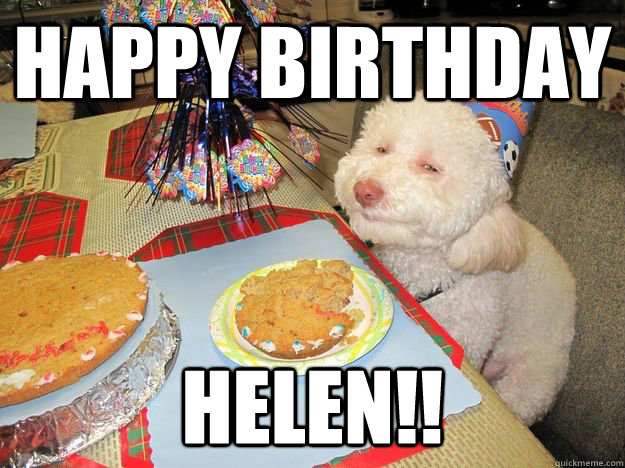 Happy Birthday HELEN!!  Stoned Birthday Dog