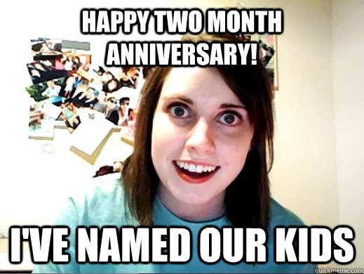 Happy two month anniversary! I've named our kids
