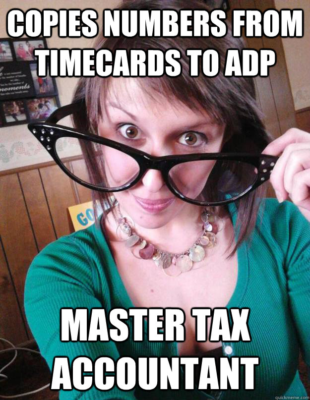 Copies Numbers From Timecards To Adp Master Tax Accountant Fake