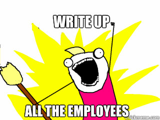 Write up All the employees - Write up All the employees  All The Things