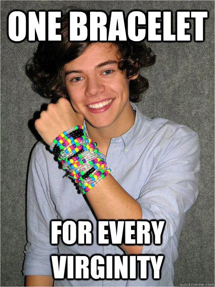 One bracelet  for every virginity