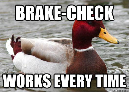 Brake-Check Works every time - Brake-Check Works every time  Malicious Advice Mallard