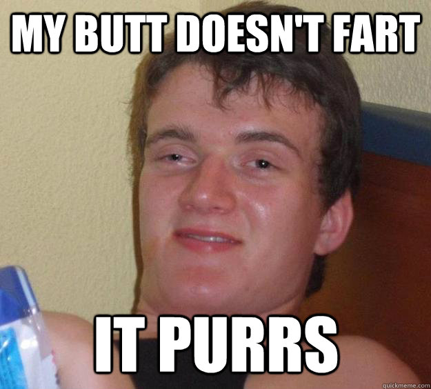 My butt doesn't fart it purrs - My butt doesn't fart it purrs  10 Guy