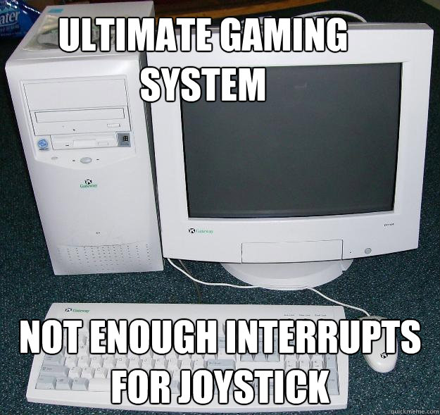 Ultimate Gaming System Not enough interrupts for joystick