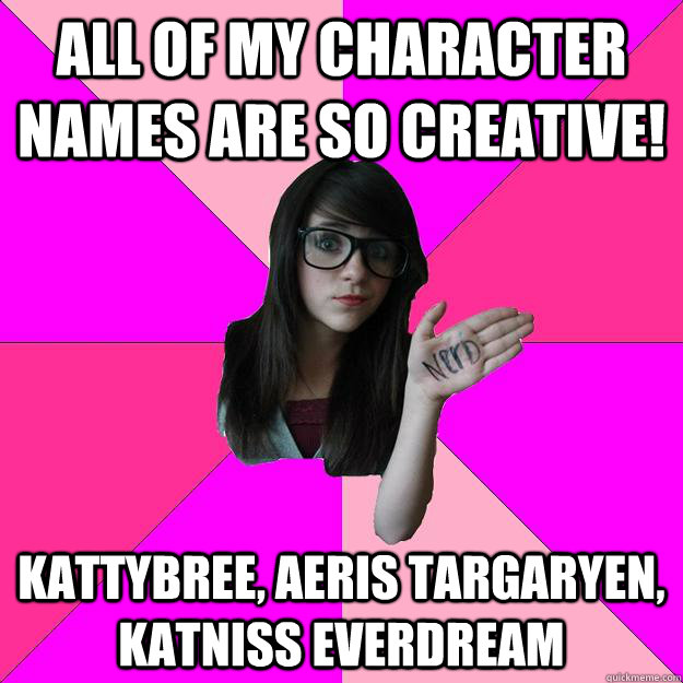 Funny Meme Girl With Glasses : All of my character names are so creative kattybree