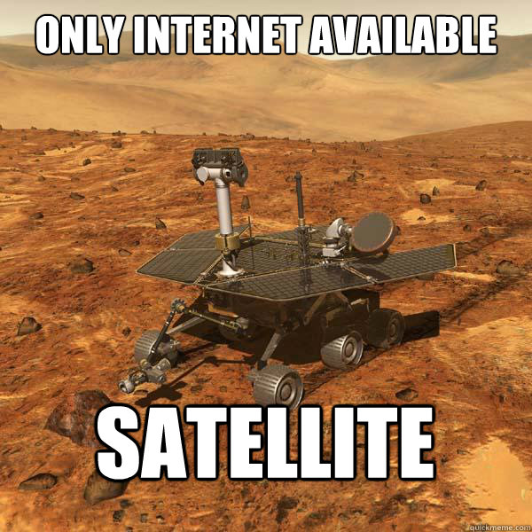 only internet available satellite