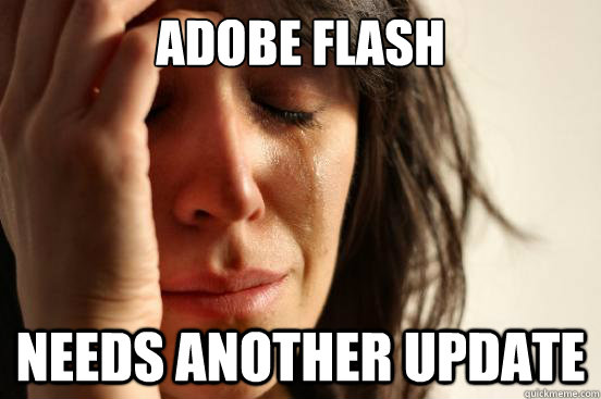 adobe flash needs another update - adobe flash needs another update  First World Problems