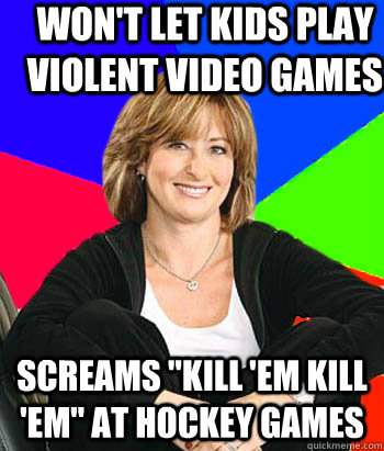 Won't let kids play violent video games Screams