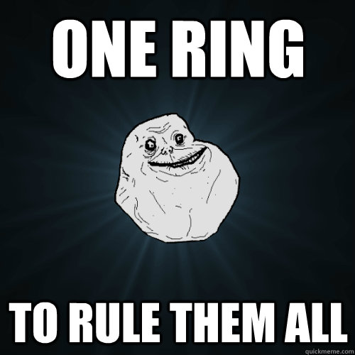One Ring To rule them all - One Ring To rule them all  Forever Alone
