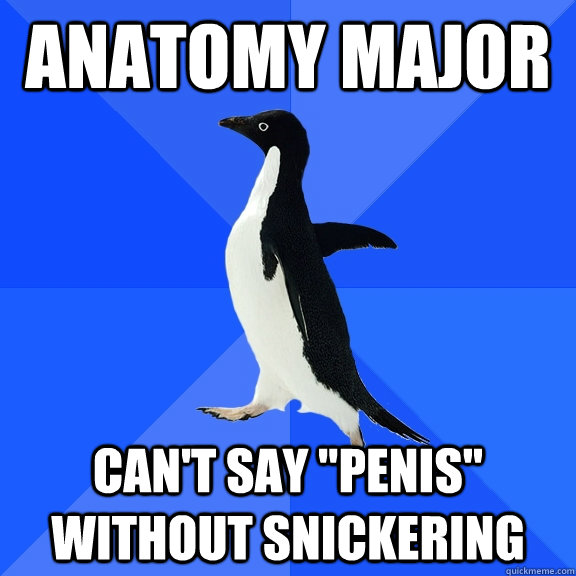 anatomy major can't say