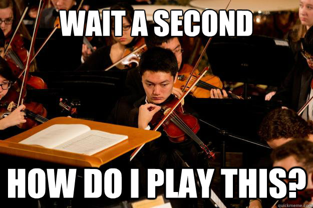 Wait a second How do I play this?  Serious violin player