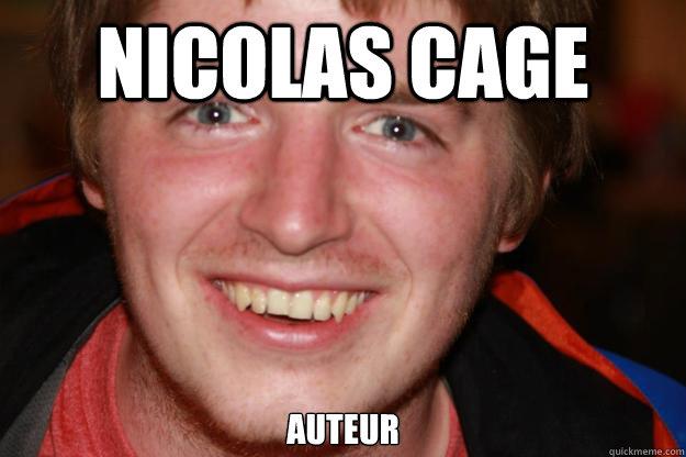 Nicolas cage auteur