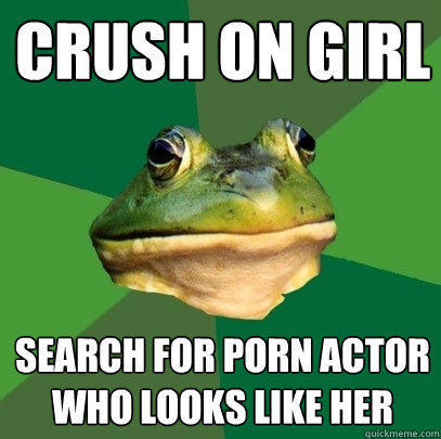 crush on girl search for porn actor who looks like her - crush on girl search for porn actor who looks like her  Foul Bachelor Frog