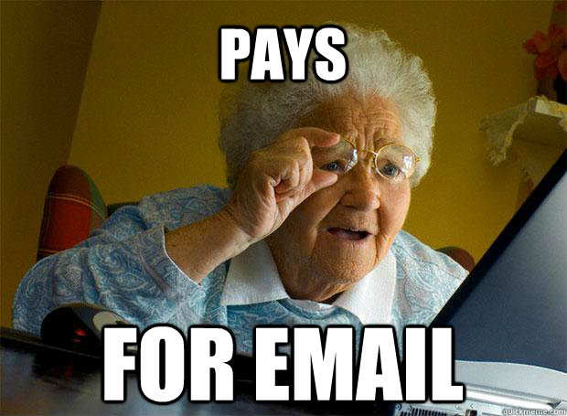 PAYS FOR EMAIL   - PAYS FOR EMAIL    Grandma finds the Internet