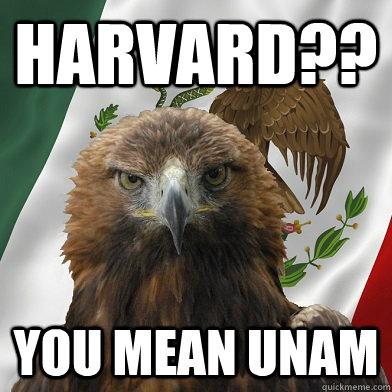 harvard?? you mean unam