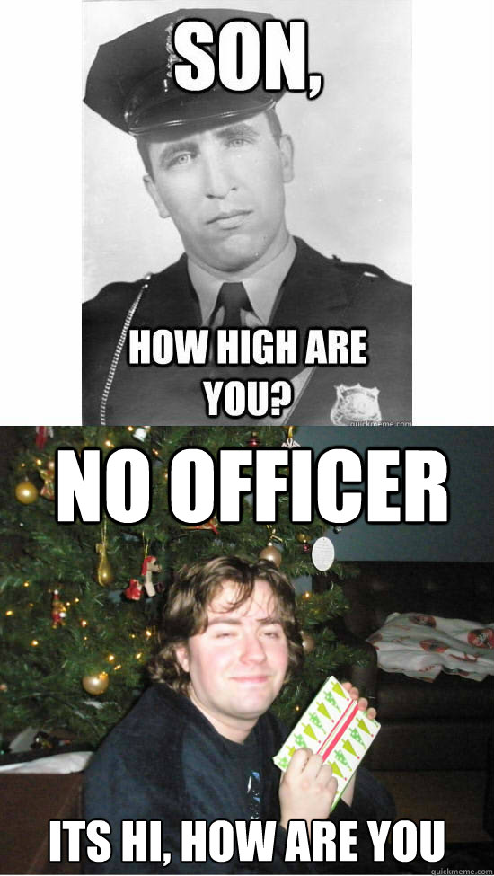 No Officer Its Hi, how are you - No Officer Its Hi, how are you  Stoner Christmas