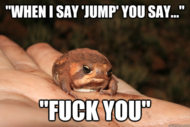 when i say 'jump' you say