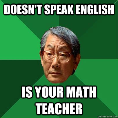 Asian math teacher