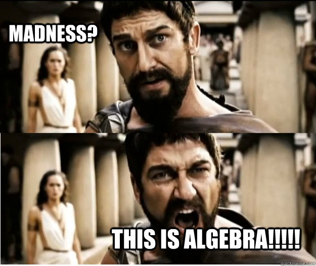 madness? this is algebra!!!!!