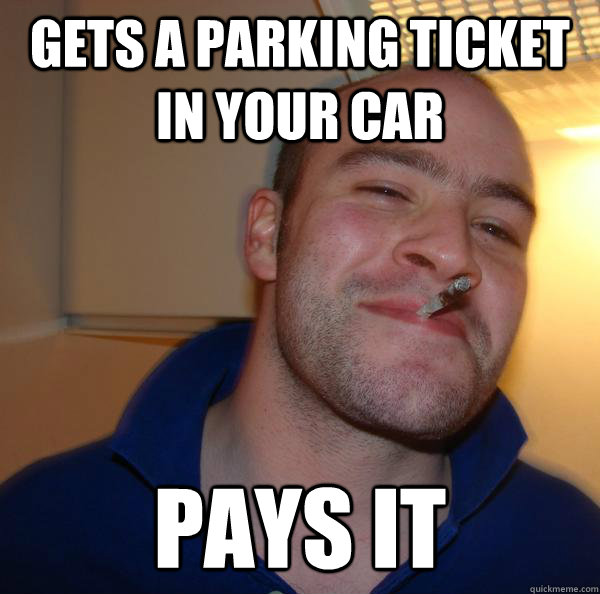 Gets a parking ticket in your car Pays it - Gets a parking ticket in your car Pays it  Misc