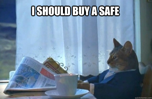 I should buy a safe - I should buy a safe  Sophisticated Cat